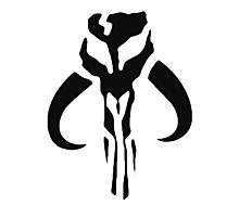 Mandalorian Skull Symbol  Photographic Print
