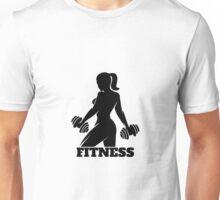 Fitness Woman Emblem Unisex T-Shirt