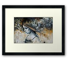 i search the silence Framed Print