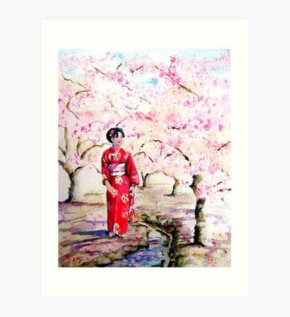 Cherry Blossom in Kyoto  Art Print