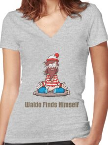 Waldo Finds Himself T-Shirt Women's Fitted V-Neck T-Shirt