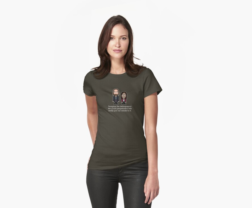 Ichabod Crane and Abbie Mills shirt by redscharlach
