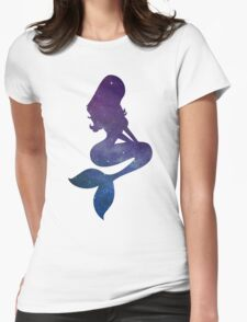 Galaxy Mermaid Womens Fitted T-Shirt