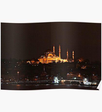 Istanbul At dawn Poster