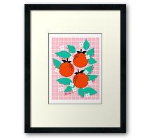 Bodacious - modern abstract minimal 1980s throwback memphis design trendy palm springs art Framed Print