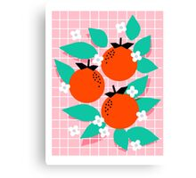 Bodacious - modern abstract minimal 1980s throwback memphis design trendy palm springs art Canvas Print