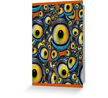 Halloween Eyeballs .. iphone case Greeting Card