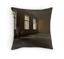 In the abandoned asylum Throw Pillow