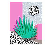 Dag - throwback memphis 1980s neon art pink pastel pattern black and white minimal art design urban Photographic Print