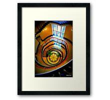 Light on Art Deco Staircase Framed Print