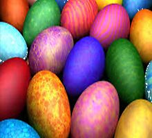 Colorful eggs by kobalos