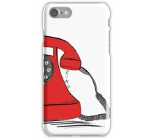 Call me  on the red retro telephone iPhone Case/Skin