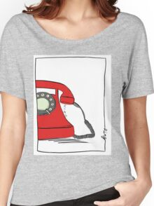Call me  on the red retro telephone Women's Relaxed Fit T-Shirt
