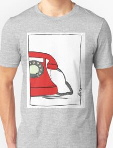 Call me  on the red retro telephone Unisex T-Shirt