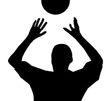 Volleyball Set Silhouette by kwg2200