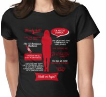Sanctuary - Helen Magnus quotes (red/white design) Womens Fitted T-Shirt