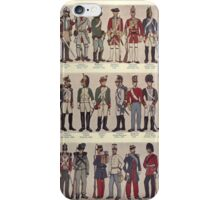 Illustrations of military uniforms from  by René L'Hôpital. iPhone Case/Skin