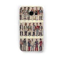 Illustrations of military uniforms from  by René L'Hôpital. Samsung Galaxy Case/Skin