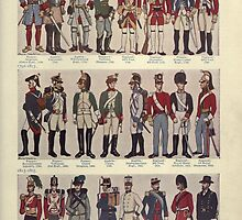 Illustrations of military uniforms from  by René L'Hôpital. by Adam Asar