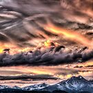 Tortured Sky - Colorado Rockies Sunset by Gregory J Summers