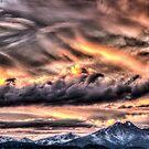 Tortured Sky - Colorado Rockies Sunset by nikongreg