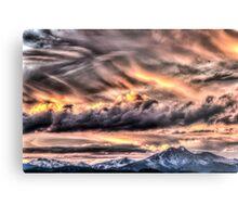 Tortured Sky - Colorado Rockies Sunset Metal Print