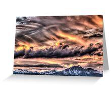 Tortured Sky - Colorado Rockies Sunset Greeting Card
