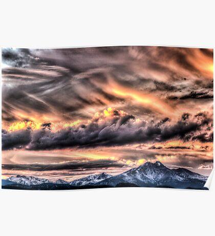 Tortured Sky - Colorado Rockies Sunset Poster