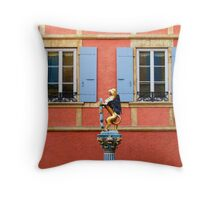 Fountain Sculpture. Neuchatel, Switzerland Throw Pillow