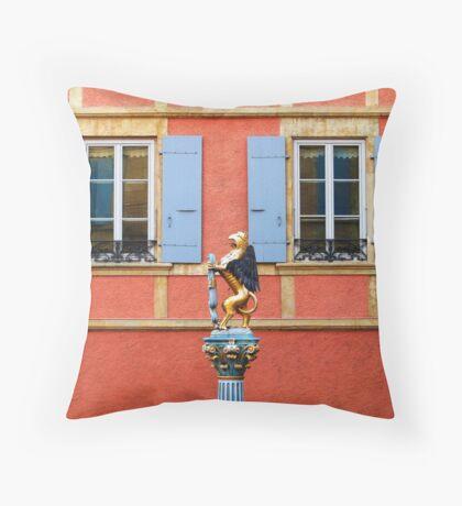Fountain Sculpture. Neuchatel, Switzerland Throw Pillow