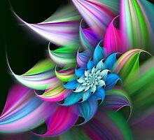 Spikey colorful flower by kobalos