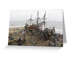 THE BLACK PEARL SHIP Greeting Card