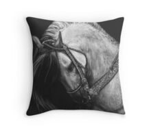 Silver Belle Throw Pillow
