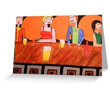 Jealousy at the Bar Greeting Card