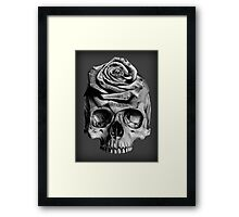 Skull Rose Framed Print