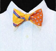 Yellow bowtie - Crayon drawing by stereoscopic