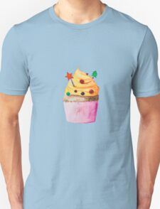 Cute Christmas and New Year cupcake Unisex T-Shirt
