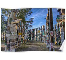 Sign Post Forest Poster
