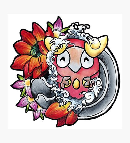 Darumaka - Pokemon tattoo art Photographic Print