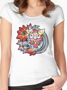 Darumaka - Pokemon tattoo art Women's Fitted Scoop T-Shirt