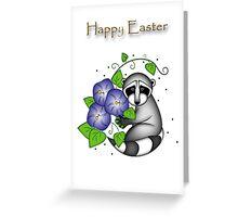 Easter Raccoon Greeting Card