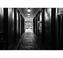 Down a Tunnel Darkly Photographic Print