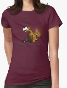 Happy Thanksgivukkah Womens Fitted T-Shirt
