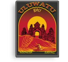 ULUWATU BALI SURFING Canvas Print