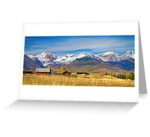 Crested Butte Autumn Landscape Panorama Greeting Card