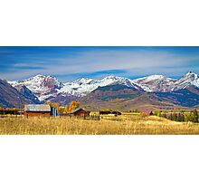 Crested Butte Autumn Landscape Panorama Photographic Print