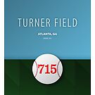 Minimalist Hank Aaron - Turner Field Atlanta by pootpoot