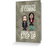 Sleepy Hollow: Someone Has To Step Up (card) Greeting Card