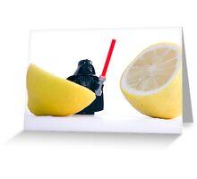 Darth Lemon. Greeting Card