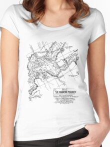 Show off your Yosemite topography! Women's Fitted Scoop T-Shirt